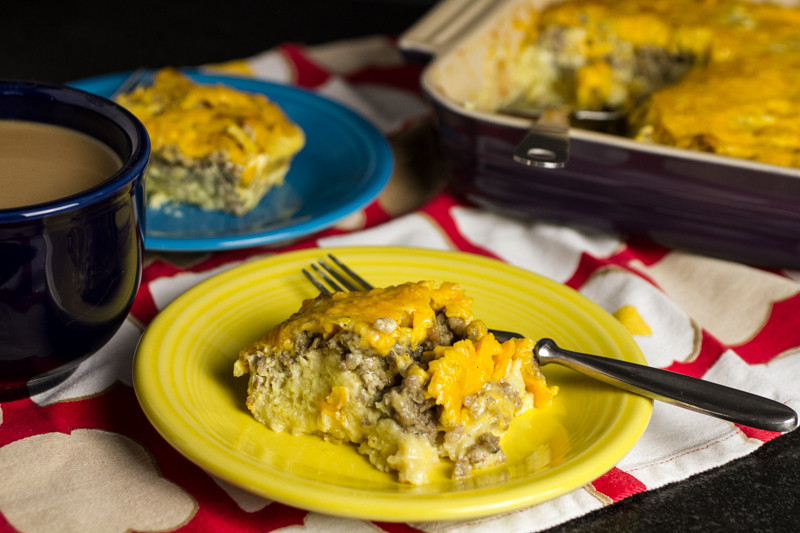 My grandmother's egg soufflé is really a traditional breakfast casserole. It's super-simple to make and it's an über-delicious crowd pleaser! | chattavore.com