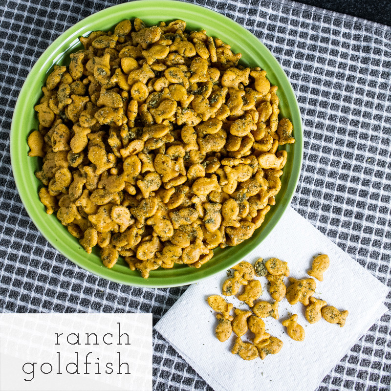 Ranch Goldfish crackers are like ranch oyster crackers....only better. They are a perfect snack for a holiday party! | recipe from Chattavore.com