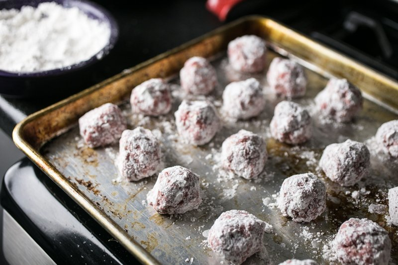 These slow cooker BBQ meatballs are so easy to make and they're true comfort food. They are perfect to eat on their own or on sliders!   recipe from Chattavore.com