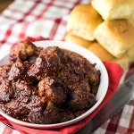 These slow cooker BBQ meatballs are so easy to make and they're true comfort food. They are perfect to eat on their own or on sliders! | recipe from Chattavore.com