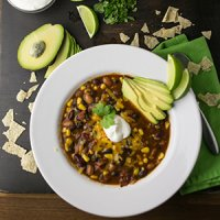 Vegetarian Taco Soup (Slow Cooker or Instant Pot)