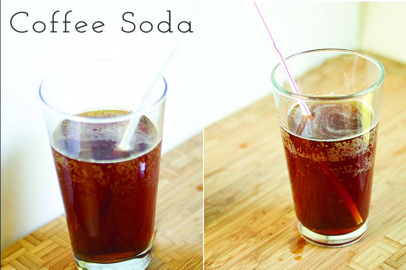 Made with just brewed coffee, sugar, and seltzer, coffee soda is a delicious and refreshing way to have your coffee when it's too hot for coffee!   recipe from Chattavore.com
