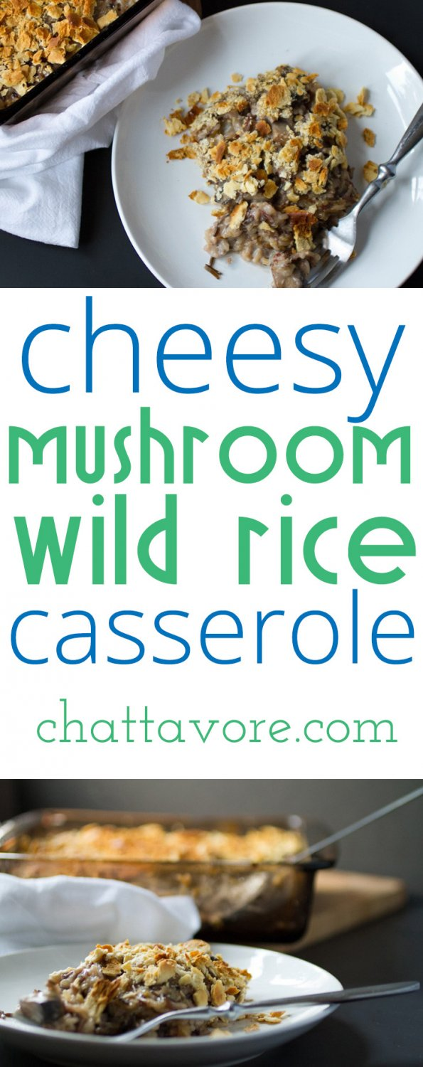 This cheesy mushroom and wild rice casserole is easy (especially when you use the baked rice method included) and so filling and satisfying!   recipe from Chattavore.com