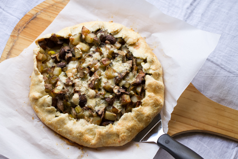 potato, mushroom, and leek galette // chattavore