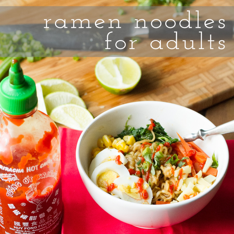 You probably ate a lot of ramen noodles back in high school & college. Homemade ramen is for adults (AND kids) so feel free to eat them for dinner. | recipe from Chattavore.com