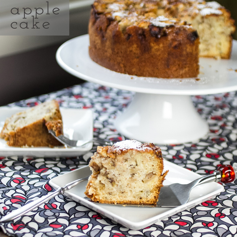 This spiced apple cake is heavy in weight but not heavy on the palate, and it has turned me into a recovering icing addict. | recipe from Chattavore.com