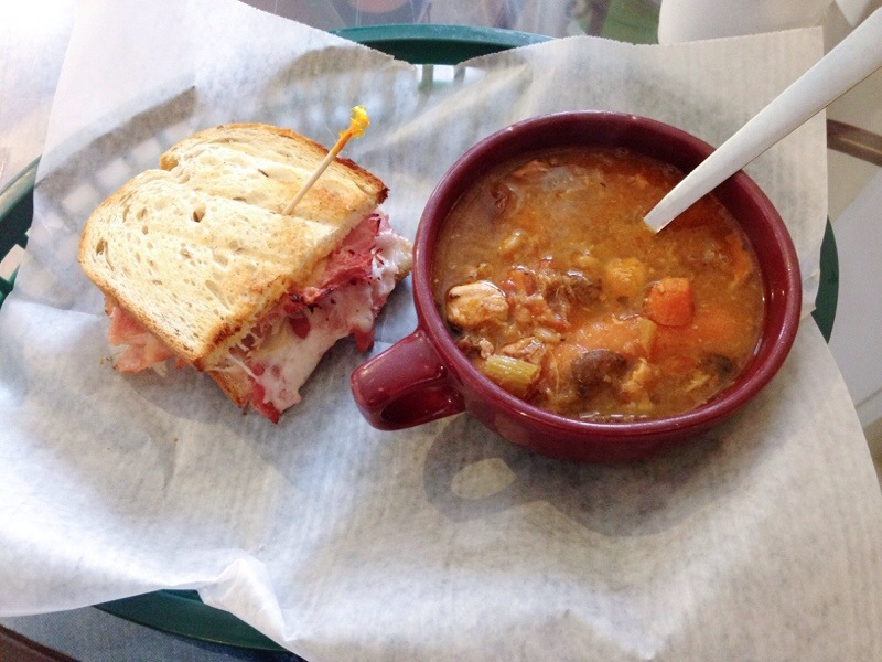 Vine Street Market serves delicious homemade sandwiches, soups, and desserts as well as take and bake entrees. And it's NOT located on Vine Street!