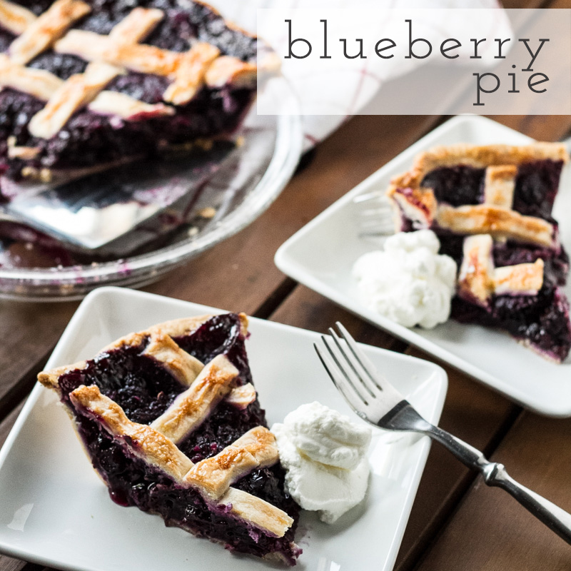 This blueberry pie, adapted from an America's Test Kitchen recipe, is the best blueberry pie that I've ever eaten. It's easy to make, too!