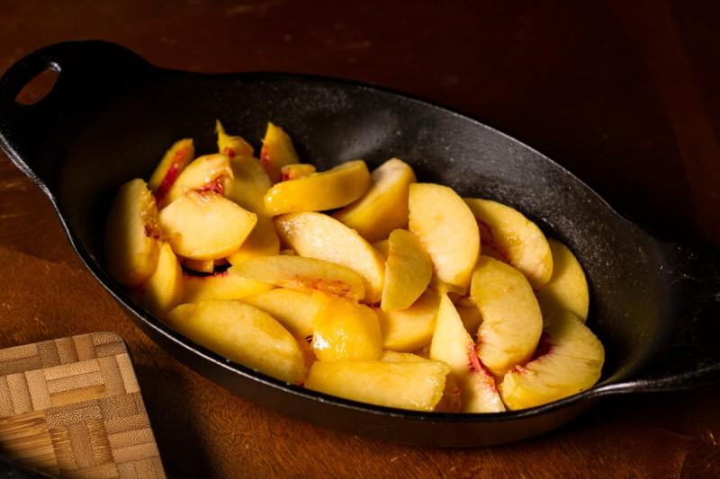 peach breakfast crisp   chattavore