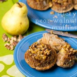sticky pear-walnut muffins | chattavore