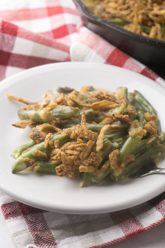 If you think you hate green bean casserole, try this one. Green bean casserole from scratch > green bean casserole NOT from scratch. By a long shot! #Thanksgiving #CookingFromScratch #GreenBeanCasserole | Recipe from Chattavore.com