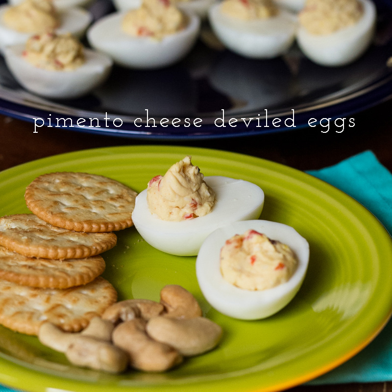 pimento cheese deviled eggs