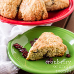 cranberry orange scones | chattavore