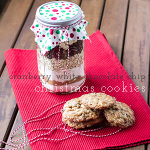 Cranberry White Chocolate Chip Cookies in a Jar