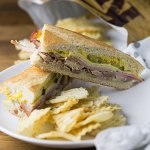 Homemade Cuban sandwiches are a perfect way to use up any leftover pork roast you might have in your fridge. They're a classic! | Recipe from Chattavore.com