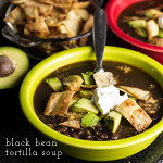 black bean tortilla soup from Chattavore