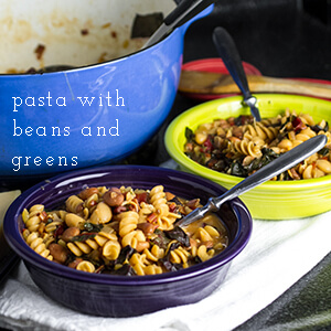 Pasta with Beans and Swiss Chard - Chattavore
