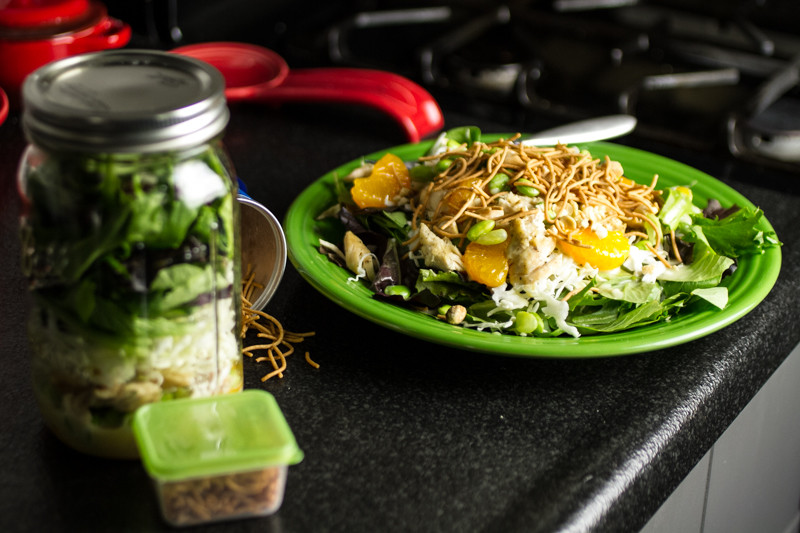 chattavore.com | This Asian chicken salad is delicious for lunch or dinner whether you assemble it on a plate or in a Mason jar!