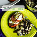 Grilled eggplant rice salad and grilled sourdough caprese salad with Colavita products are a great vegetarian grilling option! | Chattavore.com