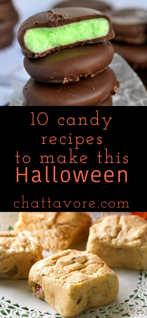 I dug up 10 great Halloween candy recipes from some great fellow bloggers for you to make this Halloween because homemade candy is the best! | round-up from Chattavore.com