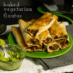 These baked vegetarian flautas with lentil-walnut filling are so delicious you won't miss the meat! Perfect for #MeatlessMonday| chattavore.com