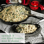 Spinach & sun dried tomato mac & cheese is extra creamy and packed full of delicious vegetables. No baking required! | chattavore.com