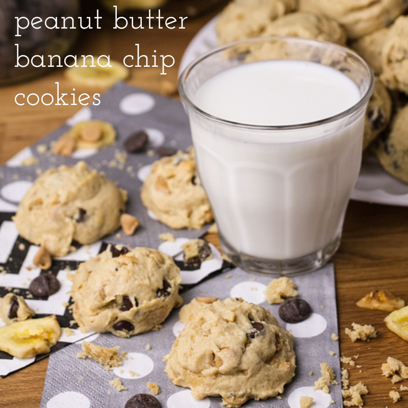 Peanut butter banana chip cookies pack a lot of punch into a little package! | recipe from Chattavore.com