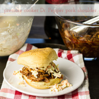 Pressure Cooker Pork Shoulder & Dr. Pepper BBQ Sauce