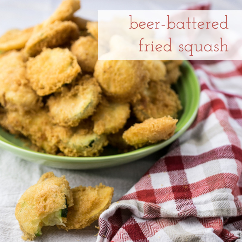 Beer battered zucchini and yellow squash is my shout-out to the beer-battered okra at Café on the Corner. It's an update on a Southern classic! | recipe from Chattavore.com