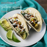 Zucchini and Yellow Squash Tacos with Mushrooms