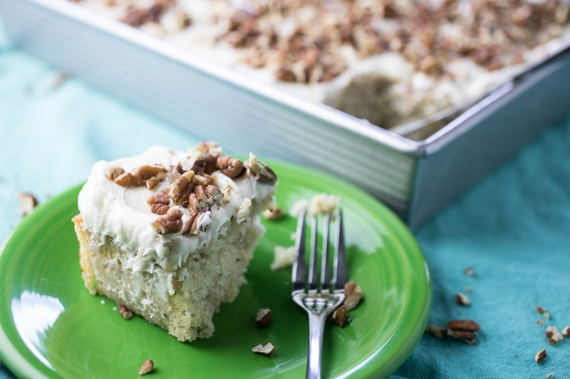 Hummingbird sheet cake transforms a slightly fussy classic Southern cake into something easy and portable yet still SO delicious - and pretty. | recipe from Chattavore.com