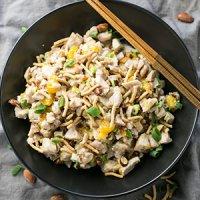Sesame Chicken Salad with Almonds