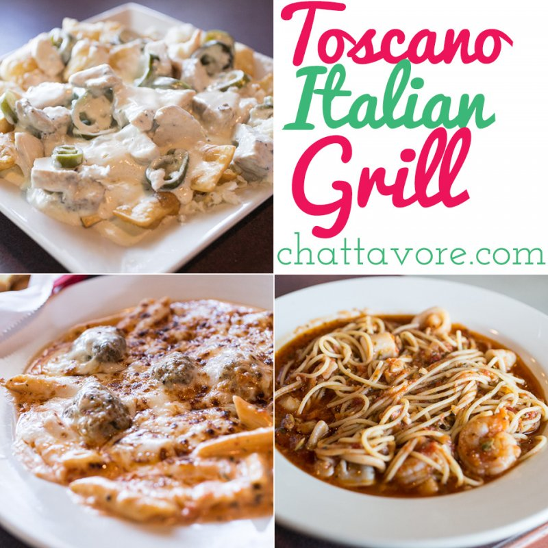 Toscano Italian Grill is an unassuming Italian restaurant located in a strip mall in Chattanooga, TN with huge portions and surprisingly tasty food. | restaurant review from Chattavore.com