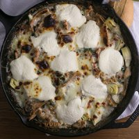 White Skillet Chicken Lasagna