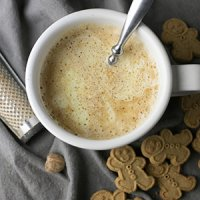 Eggnog Latte without a Milk Frother