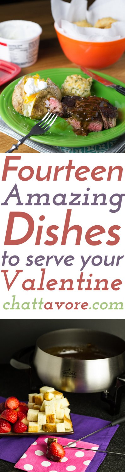 If you want to stay in this year, here are 14 amazing dishes to serve your Valentine!   recipes from Chattavore.com