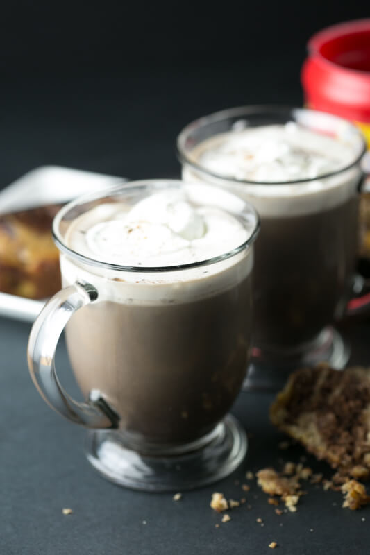 Folgers Coffeehouse Blend makes coffeehouse style drinks like this Mexican hot chocolate mocha so quick and simple to whip up! | recipe from Chattavore.com