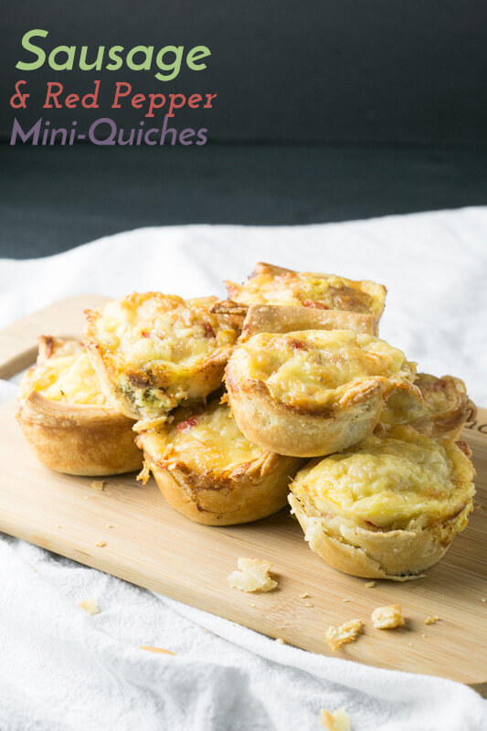 Sausage and red pepper mini quiches come together so quickly and they're so easy to make...and delicious, of course. They're great for brunch! | Recipe from Chattavore.com