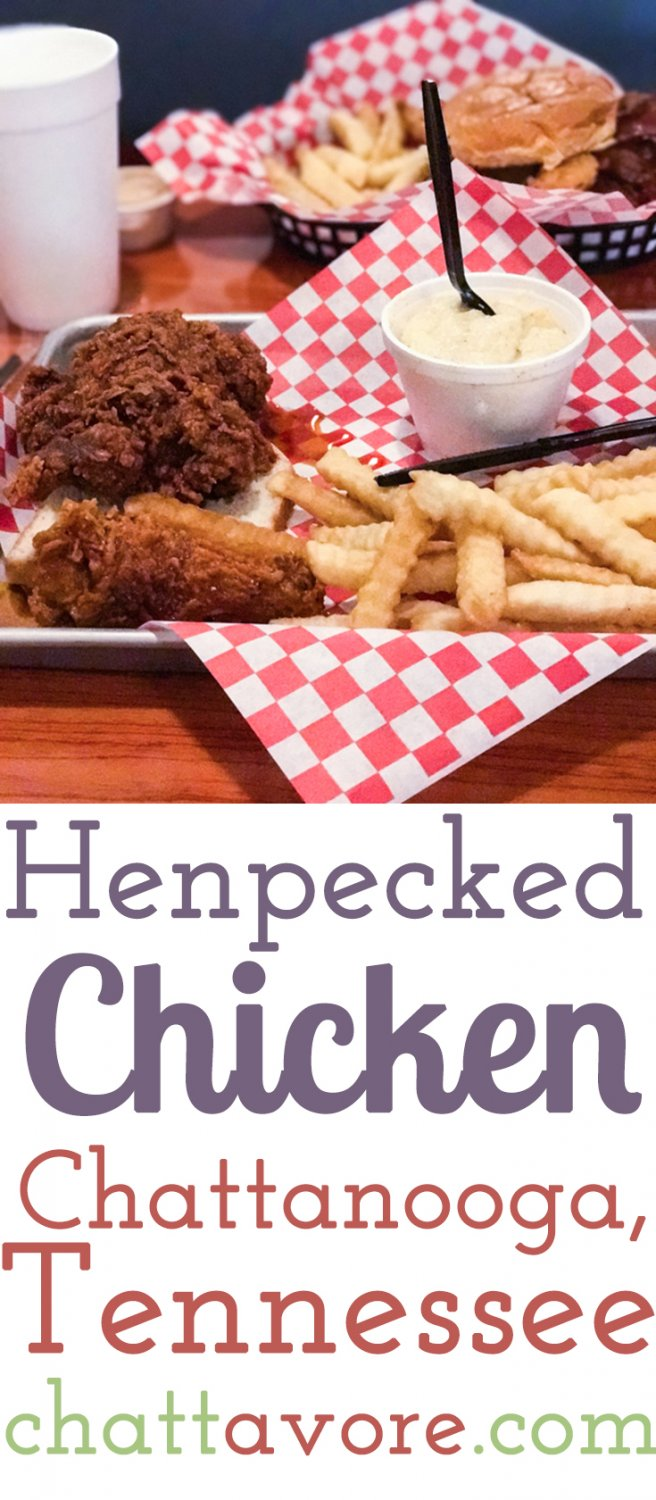 """Henpecked Chicken is a restaurant in downtown Chattanooga that serves smoked or fried chicken and boasts """"sober chicken and drunken milkshakes"""". 