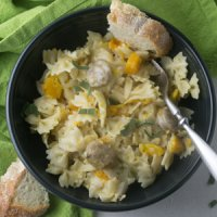 Instant Pot Butternut Squash & Sausage Pasta + Video