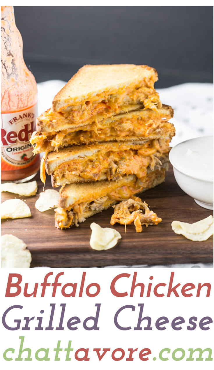 Buffalo chicken grilled cheese sandwiches chattavore for Buffalo chicken sandwich recipe grilled