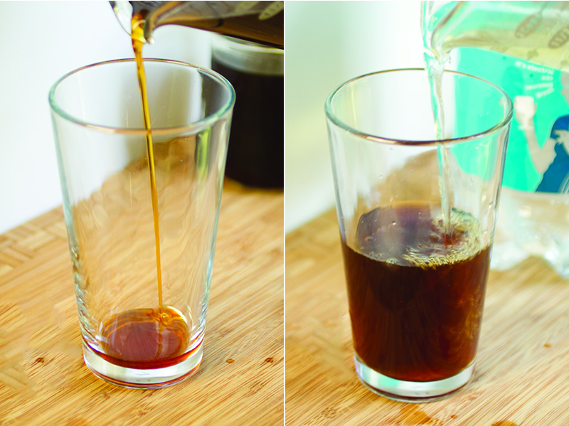 Made with just brewed coffee, sugar, and seltzer, coffee soda is a delicious and refreshing way to have your coffee when it's too hot for coffee! | recipe from Chattavore.com