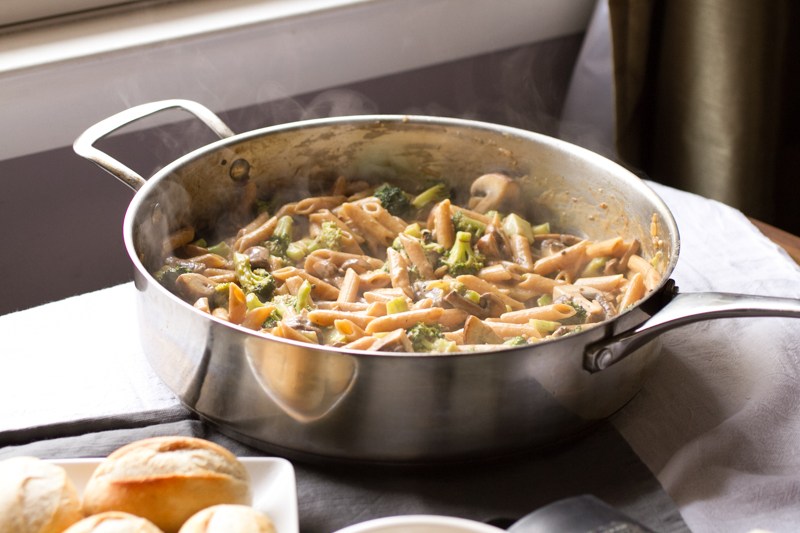 Broccoli and Mushroom Pasta Skillet - Chattavore