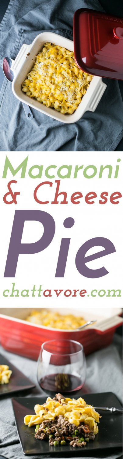 This macaroni and cheese pie is like shepherd's pie...but with macaroni and cheese instead of mashed potatoes. How could you resist? | recipe from Chattavore.com