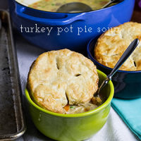 Turkey Pot Pie Soup (Thanksgiving Leftovers)