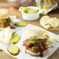 Leftover BBQ Pork Sandwich & Peach BBQ Sauce