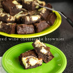 Red Wine Brownies with Cheesecake Swirl