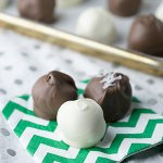 Girl Scout cookies are great for these cookie truffles, but you can use any cookies if you want to have cookie truffles year-round! | Recipe from Chattavore.com