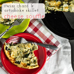 This skillet cheese soufflé is baked right in a skillet, is perfect for breakfast, lunch, or dinner, and is a great way to use up whatever you have in your fridge! | chattavore.com