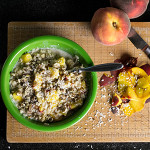 Coconut peach oatmeal is a delicious vegan breakfast! | chattavore.com
